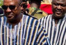 Left-President Mahama, Right-Brother, Ibrahim Mahama