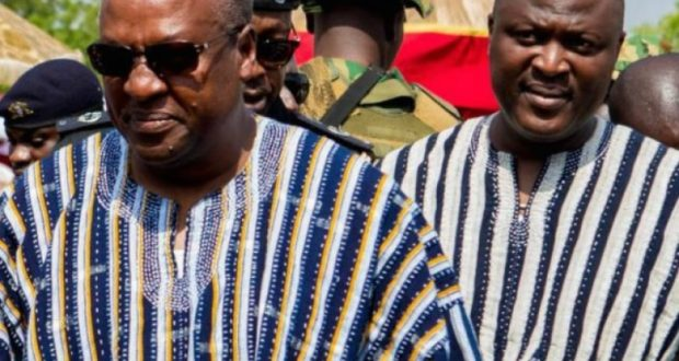 Left-President Mahama, Right-Brother, Ibrahim Mahama