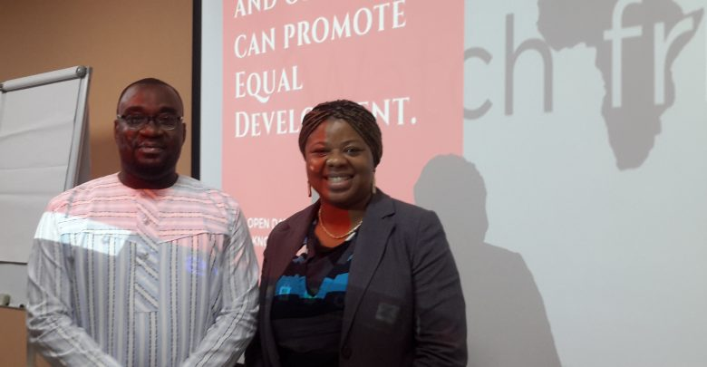 iWatch Africa Open Data Day 2019 in Ghana, Gideon Sarpong (right), Teta Zubah (left)