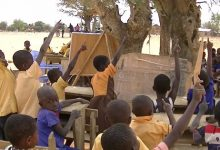 Pupils at the Azudooni Primary School at Sirigu in the Upper East Region -iWatch Africa