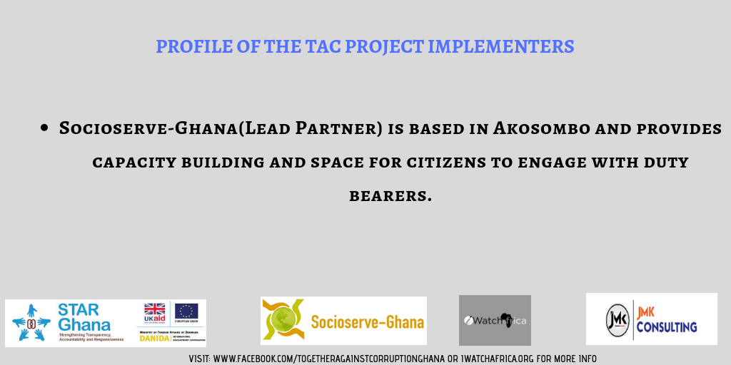 infographic: iWatch Africa's Together Against Corruption initiative funded by the EU, Danida and UKAid