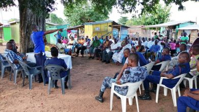 Photo of Citizen-Police forum held in Somanya District as part of the TAC project