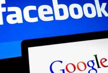 Facebook & Google logo (credit getty images)